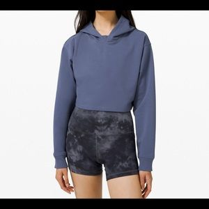 Lululemon 🍋all yours cropped blue hoodie-6